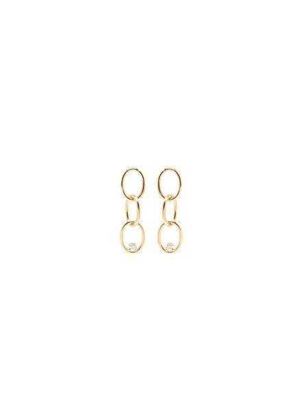 ZOE CHICCO 14K PRONG SET DIAMOND CHAIN LINK EARRINGS