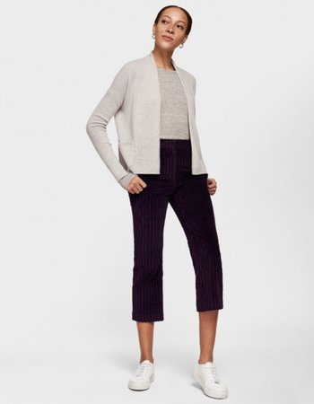 WHITE + WARREN POCKET OPEN CARDIGAN