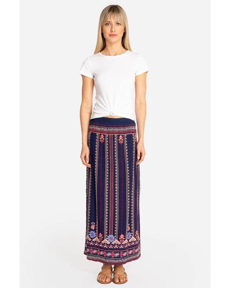 33cfe0c21f16 JOHNNY WAS FREDERIQUE SIDE SLIT MAXI SKIRT - The Peacock Boutique