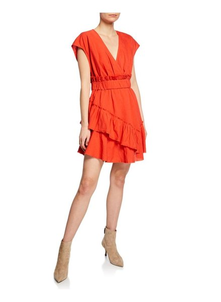 IRO BILLOW RED DRESS