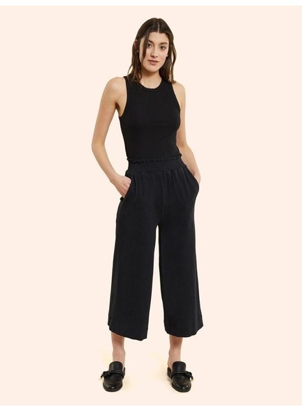 KINLY SMOCKED WAIST TWILL PANT