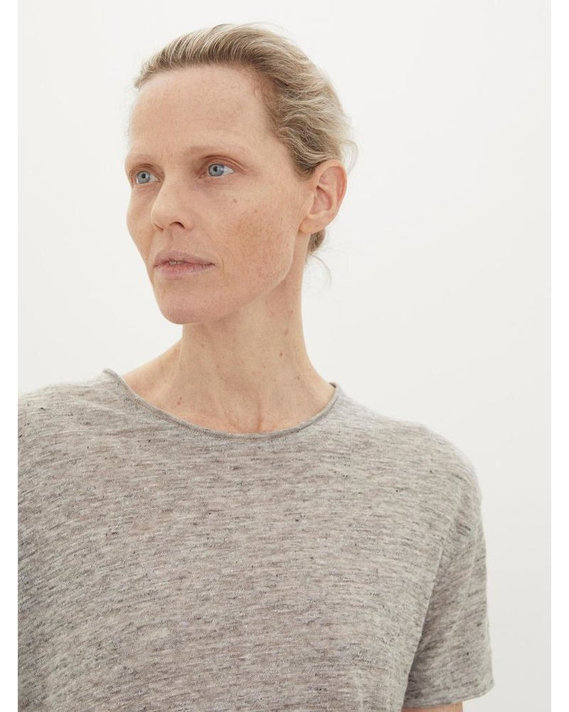 BY MALENE BIRGER GREY LINEN TEE