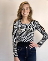 MCQ CUT OUT ZEBRA TOP