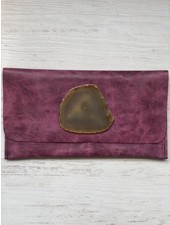 KRAVA FUSCHIA LEATHER WITH TAN STONE