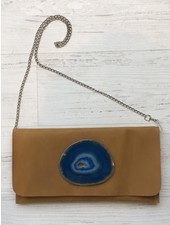KRAVA CAMEL LEATHER WITH BLUE STONE