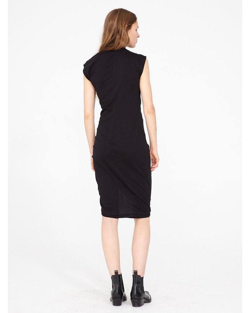 RAQUEL ALLEGRA GATHERED TIE MIDI DRESS