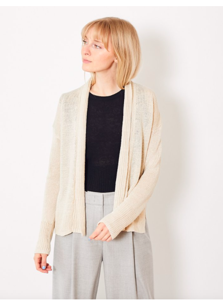 WHITE + WARREN HI LO OPEN CARDIGAN