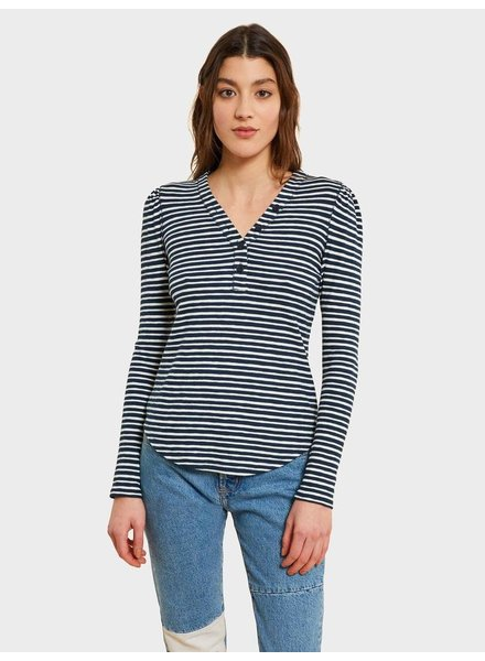 KINLY FITTED VNECK HENLEY