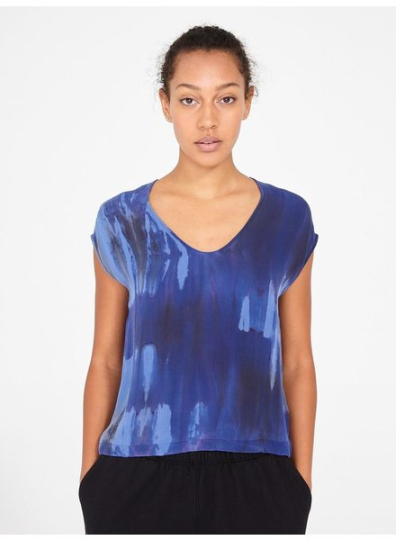 RAQUEL ALLEGRA SAPHIRE SHELL TOP