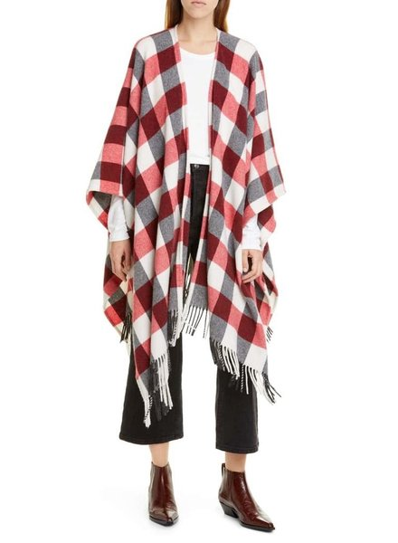 RAG & BONE BUFFALO PLAID PONCHO