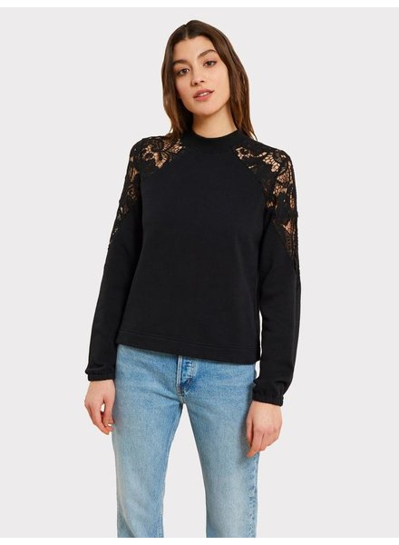KINLY LACE CUTOUT SWEATSHIRT