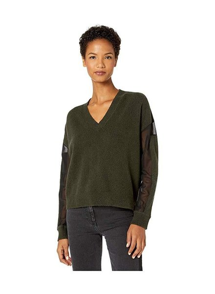 MCQ V NECK CROPPED JUMP