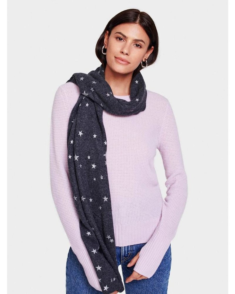 WHITE + WARREN PRINTED STAR SCARF