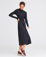 RAG & BONE DRAPED WOOL SHAW MIDI DRESS