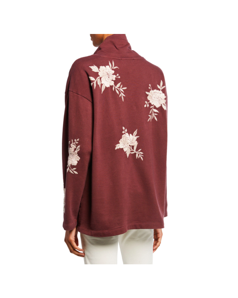 JOHNNY WAS SANTAL TURTLE NECK SWEATSHIRT