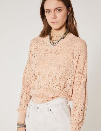 IRO BLUSH PINK PEY PIN SWEATER