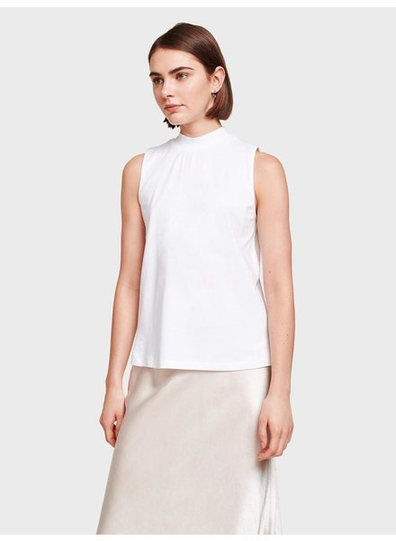 WHITE + WARREN SLEEVELESS MOCKNECK