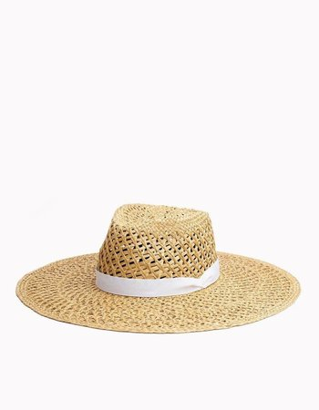 RAG & BONE OPEN WEAVE WIDE BRIM HAT