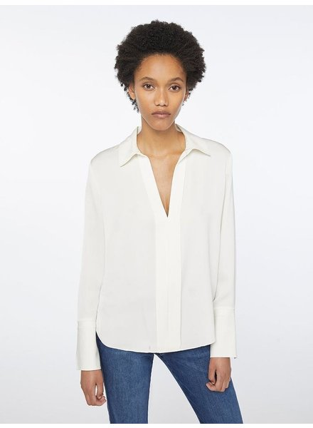 FRAME CLEAN SILK BLOUSE