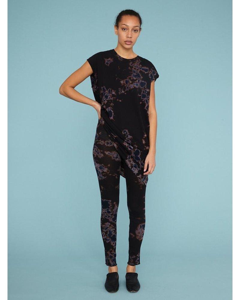 RAQUEL ALLEGRA BLACK/SKY TD TIE DYE CUTOFF SHIRT DRESS
