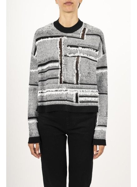 MCQ OPEN BLOCK CREW SWEATER