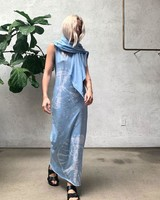 RAQUEL ALLEGRA MUSCLE MAXI DRESS