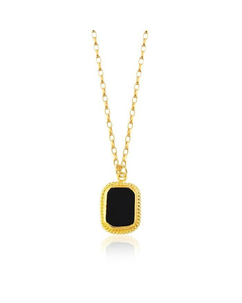 MAISONIREM ONYX LONG NECKLACE