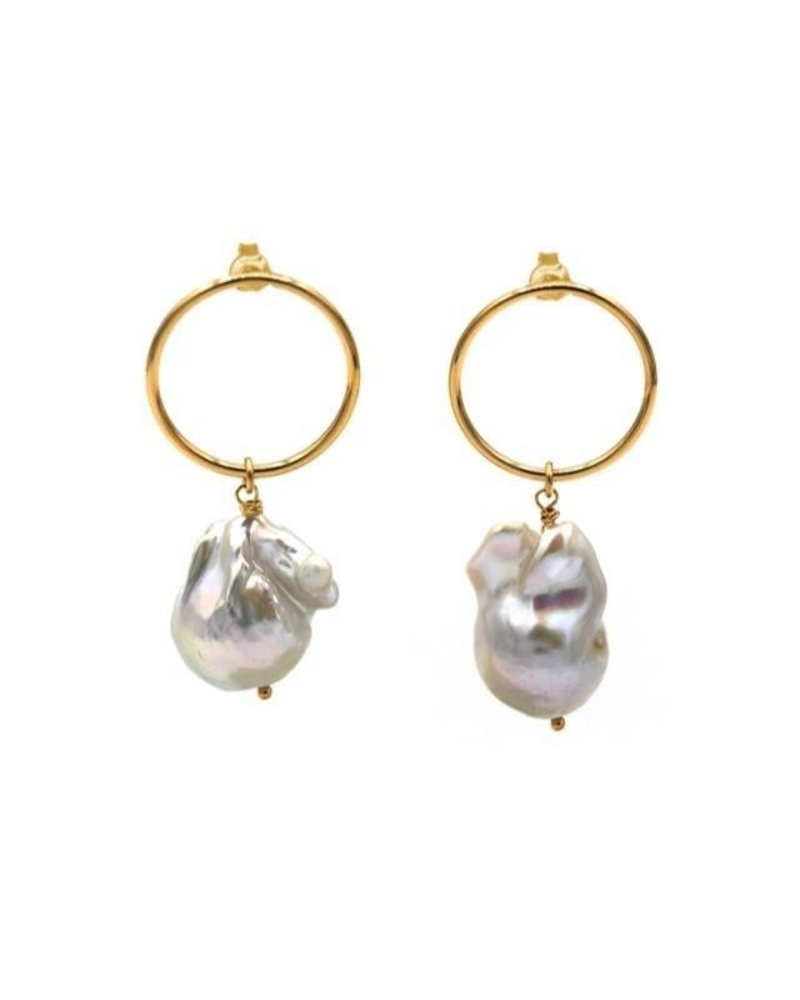 MAISONIREM EARRINGS BAROQUE PEARL