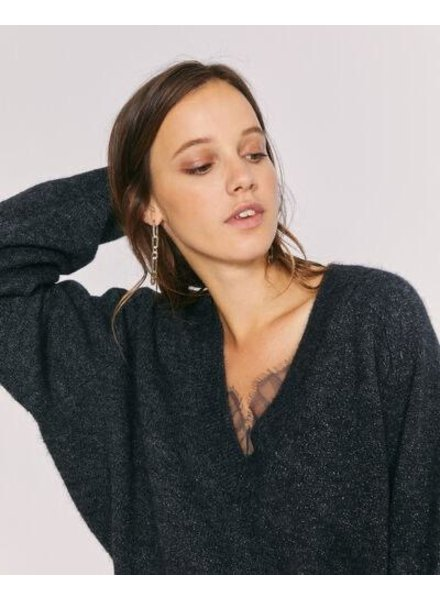IRO ANTHRACITE SPARKLE SWEATER