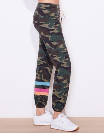 SUNDRY DARK CAMO PANTS