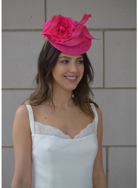 PHILIP TREACY PINK FLOWER FASCINATOR