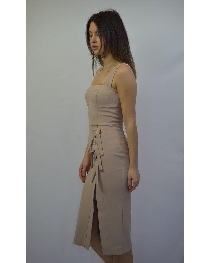 REBECCA VALLANCE CELESTINA TIE DRESS