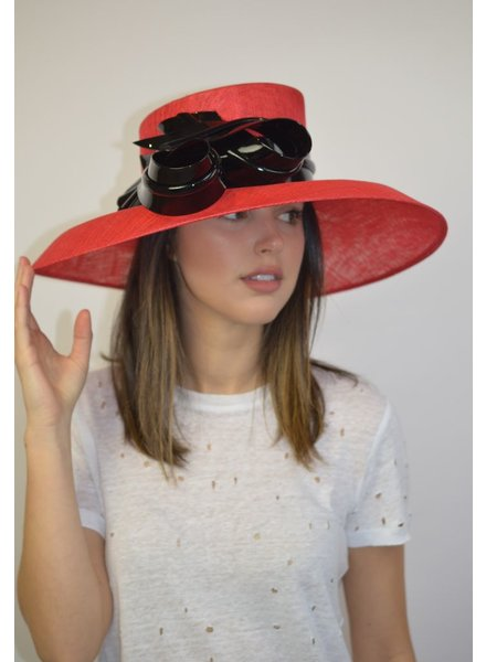 PHILIP TREACY RED/BLK