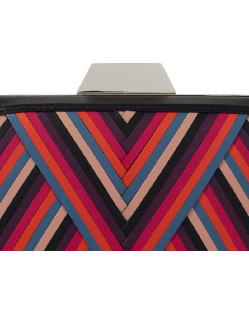 "LILI RADU SHELL CLUTCH ""CRAZY V"" PLUS"