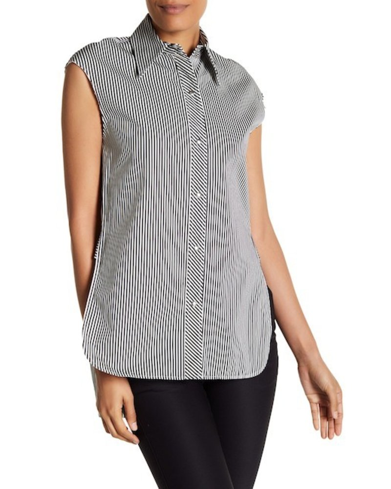 7934bee3 HELMUT LANG SLEEVELESS STRIPE TOP - The Peacock Boutique