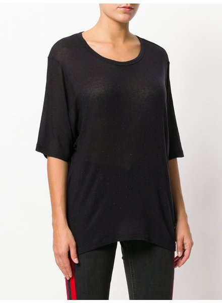 IRO BLK TSHIRT WITH STUDS