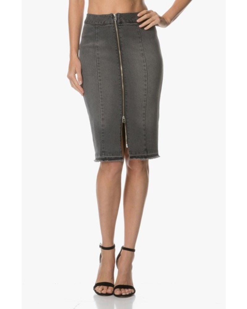c233118fbb MALENE BIRGER BLACK DENIM SKIRT - The Peacock Boutique