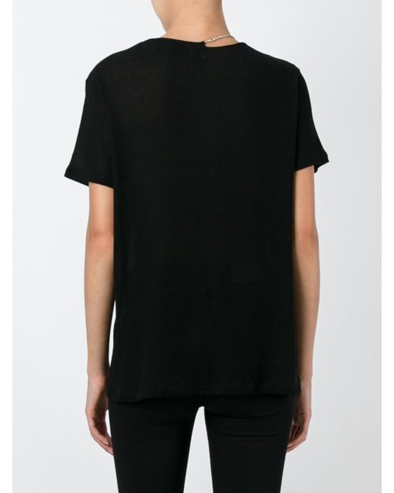 IRO BLK TOP WITH CHAIN