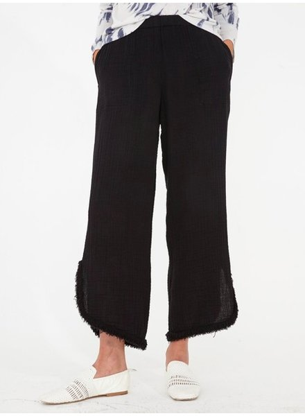 RAQUEL ALLEGRA CUT OUT PANT IN BLACK
