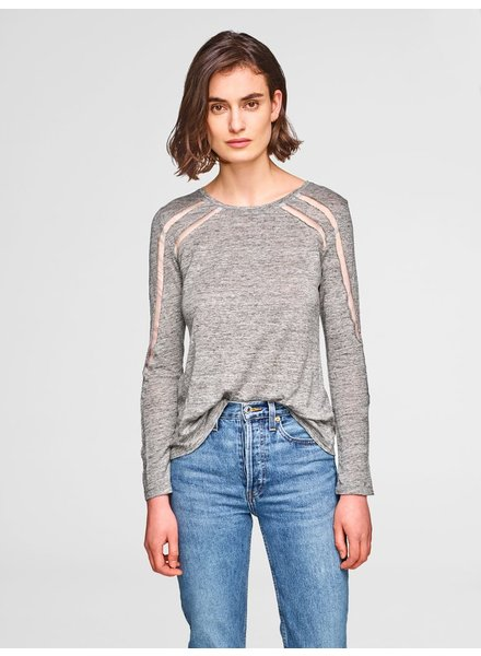 KINLY TULLE TRIM TOP