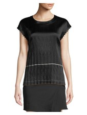 HELMUT LANG CRINKLE PLEATED TOP