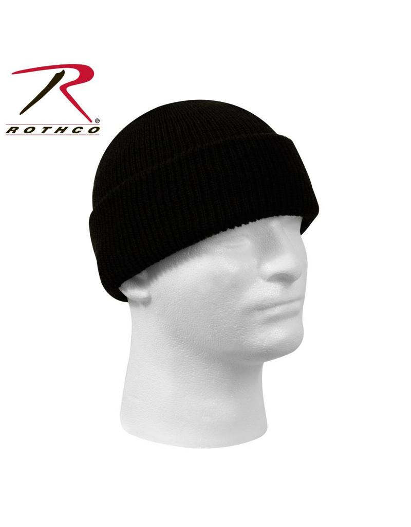 ROTHCO Tuque 100% Laine Noir Militaire Rothco
