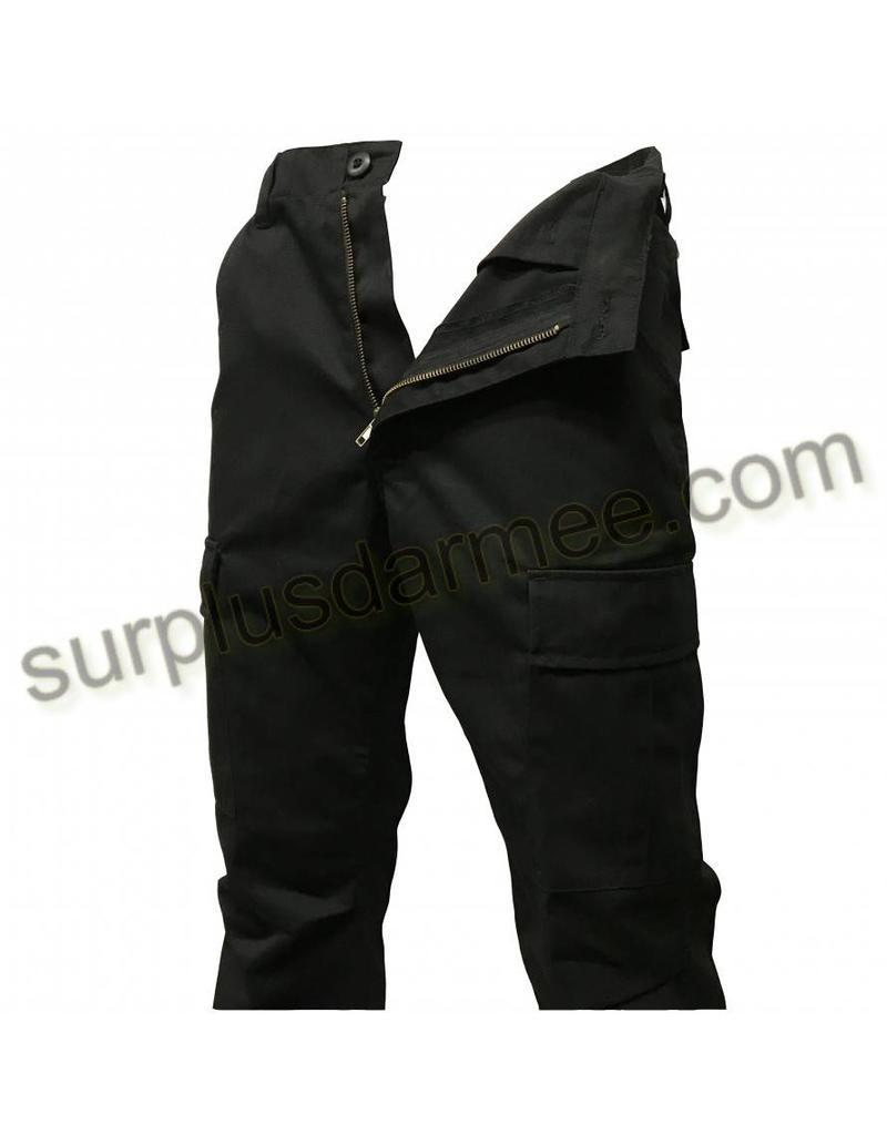 MILCOT Pantalon Cargo Noir Style Militaire