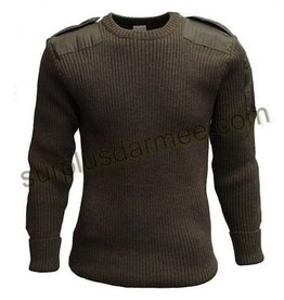 SGS Wool Sweater100% Military Style Olive