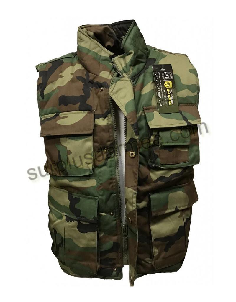 SGS Veste Ranger Sans Manches Woodland