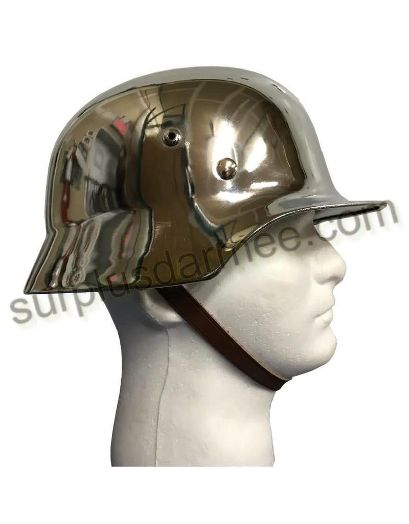 MILCOT Imported German Chrome Helmet