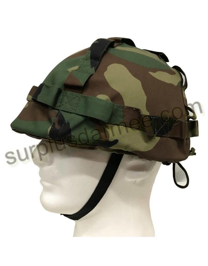 SGS Imported Woodland Plastic Military Helmet