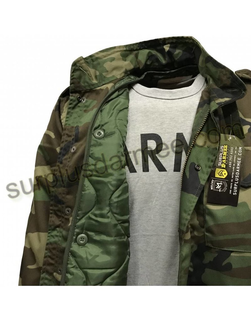 MILCOT Woodland Camo M-65 Lined Jacket