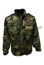 MILCOT Manteau Camo Woodland M-65 Doublé Style Militaire