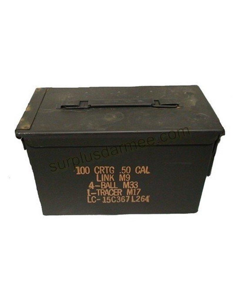 MILCOT Boite Munition Militaire Calibre .50 Usagé